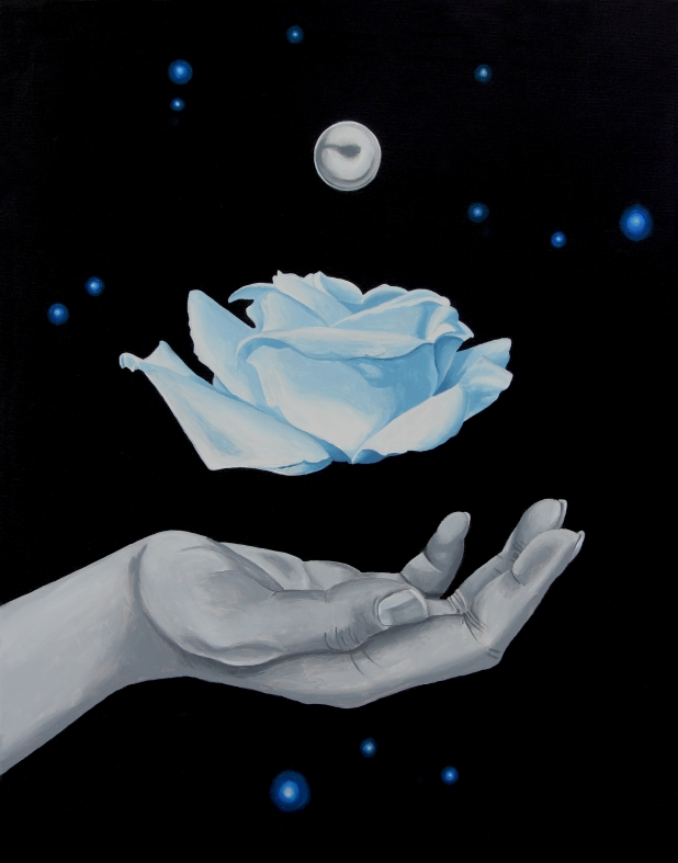 Power, Rose, White Rose, hand, magic, witch, Black Abbey Studios