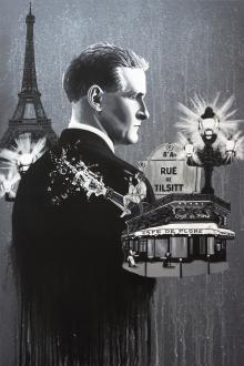 Fitzgerald, Paris, black and white, Zelda, Eiffel Tower, Lost Generation